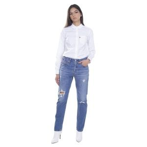 LEVIS 501 High Rise WOMENS BUTTON FLY Denim JEANS
